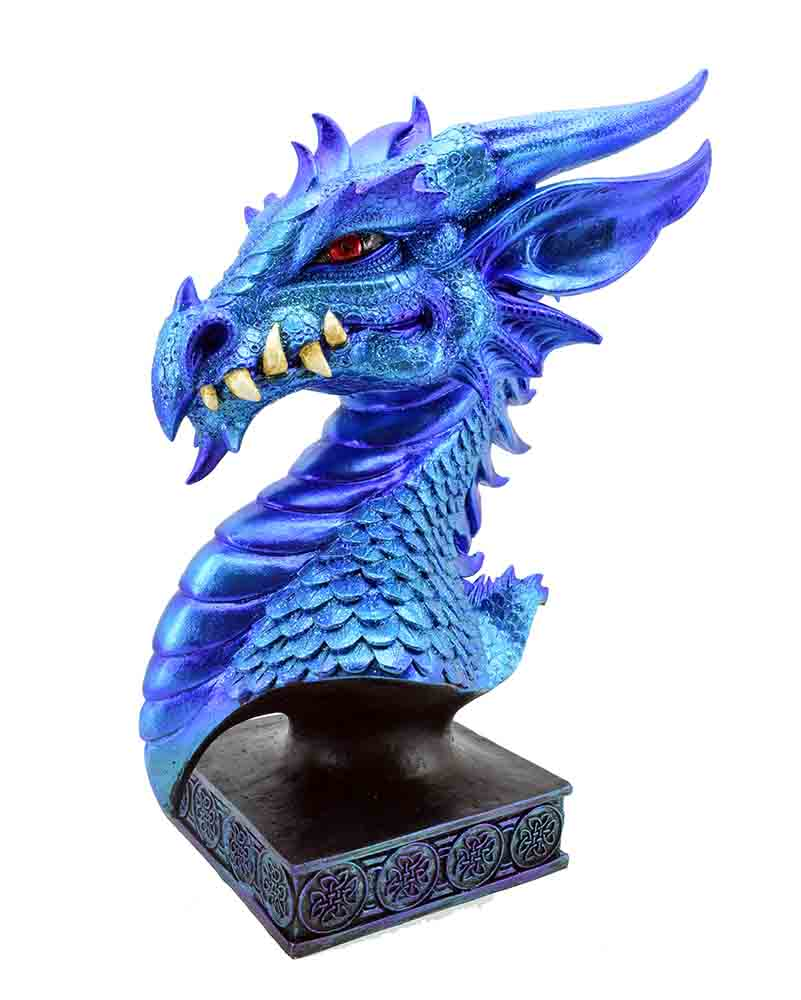 dragon head on stand blue 76399 17 00 cleopatra trading limited